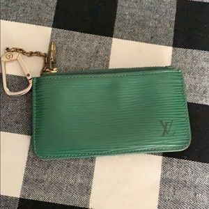 Louis Vuitton key pouch with keychain